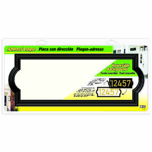Hy-Ko  Black  Plastic  Rectangle  Address Plate
