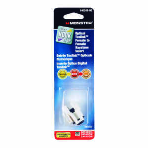 Monster Cable  Just Hook It Up  Digital Optical Toslink Keystone Insert  1 pk