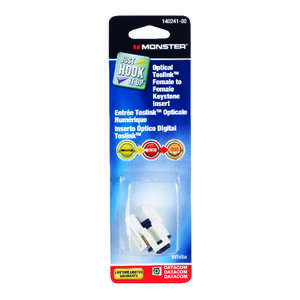 Monster Cable  Just Hook It Up  Digital Optical Toslink Keystone Insert  1 pk 0 ft. L