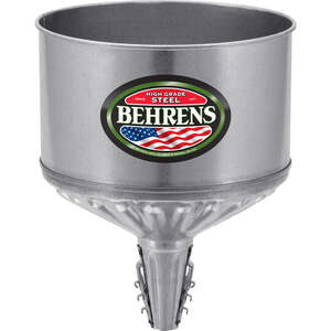 Behrens  Silver  11-7/8 in. H Steel  8 qt. Funnel
