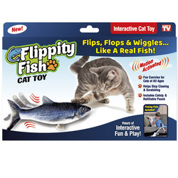 Flippity Fish  Realistic  Cat Toy  1 pc.