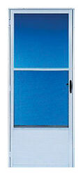 Croft  80 in. H x 32 in. W Aluminum  White  Mid-View  Reversible  Reversible Self-Storing Storm Door