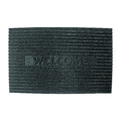 J & M Home Fashions 30 in. L x 18 in. W Gray Nonslip Floor Mat