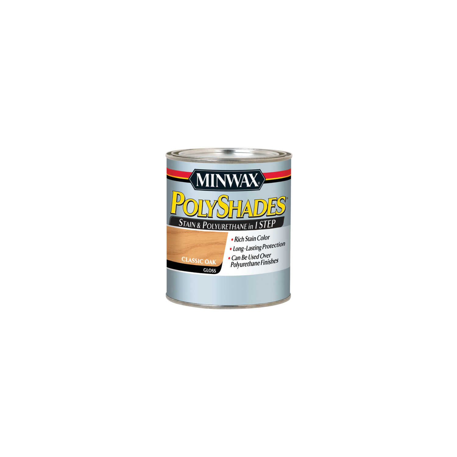 Minwax  PolyShades  Semi-Transparent  Gloss  Classic Oak  Oil-Based  Stain  0.5 pt.