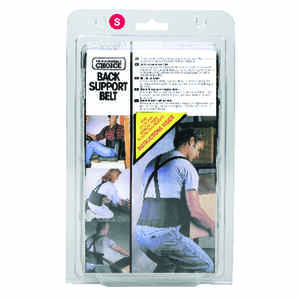 CLC Work Gear  28  32  Elastic  Back Support Belt  Black  S  1 pc.