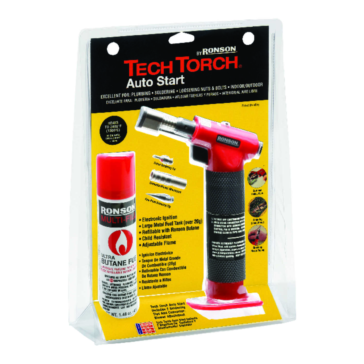 Ronson  Tech Torch  1 pk Torch Kit Squeeze Valve