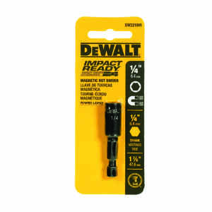 DeWalt  Impact Ready  1-7/8 in. L x 1/4 in.  Black Oxide  1/4 in. Quick-Change Hex Shank  1 pc. Nut