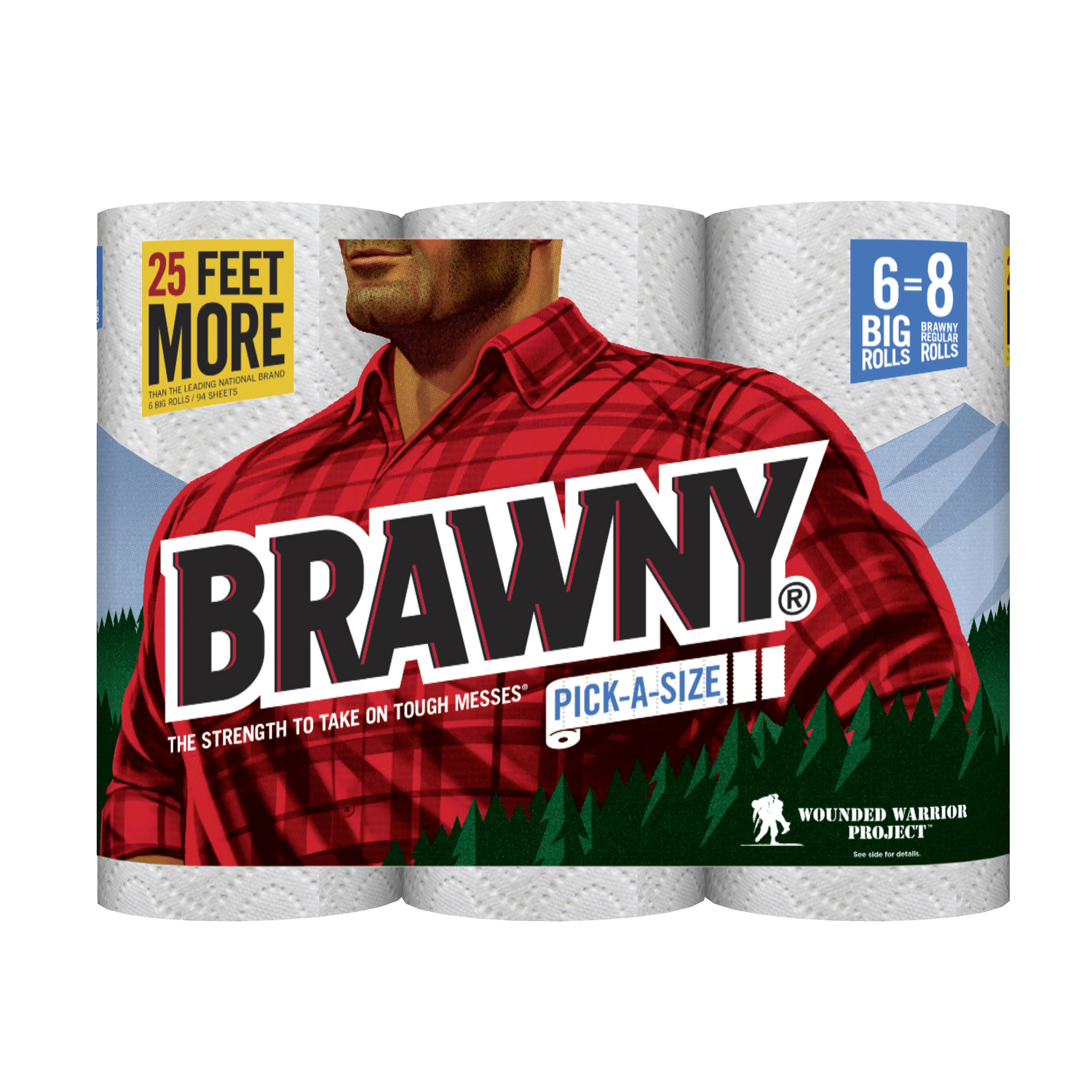 Brawny  Paper Towels  102 sheet 2 Ply 6 roll