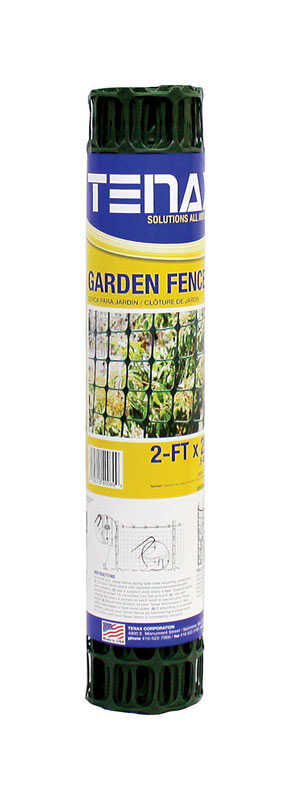 Tenax  24 in. H x 25 ft. L Polyethylene  Garden  Fence  Green