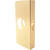 Prime-Line 9 in. H x 3.875 in. L Brass-Plated Brass Door Reinforcer