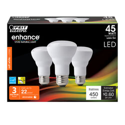 FEIT Electric  Enhance  R20  E26 (Medium)  LED Bulb  Soft White  45 Watt Equivalence 3 pk