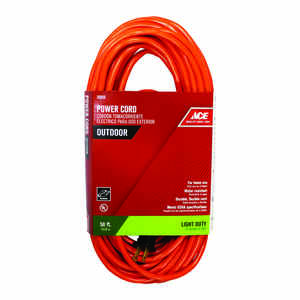 Ace  Indoor and Outdoor  50 ft. L Orange  Extension Cord  16/2 SJTW
