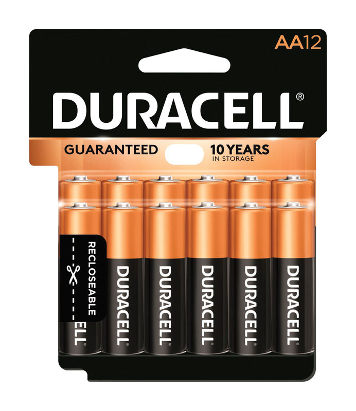 Duracell  Coppertop  AA  Alkaline  Batteries  1.5 volts 12 pk Carded