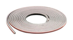M-D  Gray  Pile  Weatherstrip  For Doors and Windows 17 ft. L x 7/32 in.
