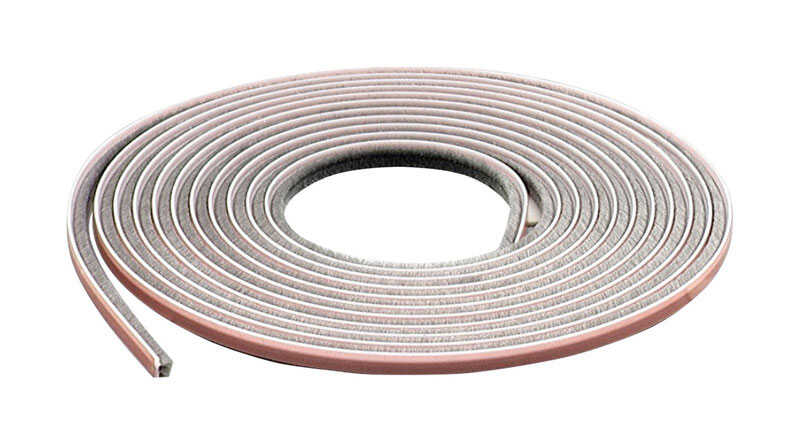 M-D Building Products  Gray  Pile  17 ft. L x 7/32 x 1/4 in.  For Door and Window Weather Stripping