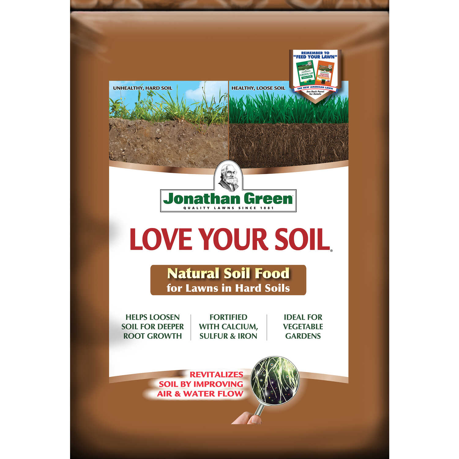 Jonathan Green  Love Your Soil  Organic 0-0-0  Lawn and Garden Food  For All Grass Types 18 lb.