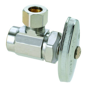 BrassCraft  Plumb Shop  Nominal Sweat   Compression  Brass  Angle Valve