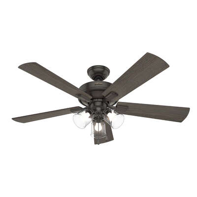 Hunter Fan  Crestfield  52 in. Bronze  Indoor  Ceiling Fan