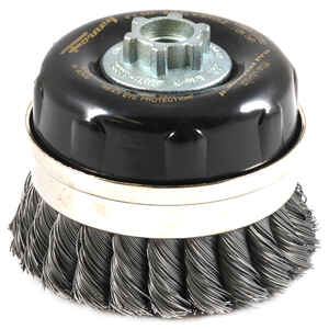 Forney  4 in. Dia. x 5/8 in.  Steel  Cup Brush  1 pc. Knotted
