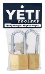 YETI  1-1/2 in. H x 1-1/2 in. W x 3-1/2 inch  L Brass  Key  Bear Proof Padlock  2 pk Keyed Alike