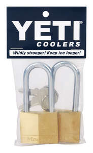 Master Lock  1-1/2 in. W x 1-1/2 in. H Key  Brass  Bear Proof Padlock  2 pk Keyed Alike