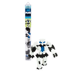 Plus-Plus Robot Building Blocks Polyethylene Black/Blue/White 70 pc.