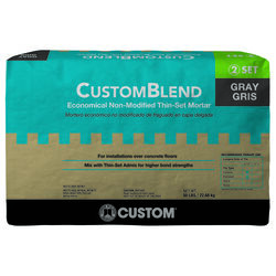 Custom Building Products  CustomBlend  Gray  Thin-Set Mortar