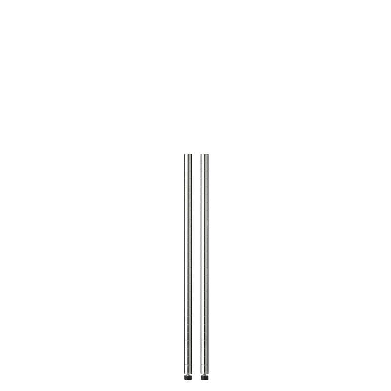 Honey Can Do  36 in. H x 1 in. W x 1 in. D Steel  Shelf Pole with Leg Levelers