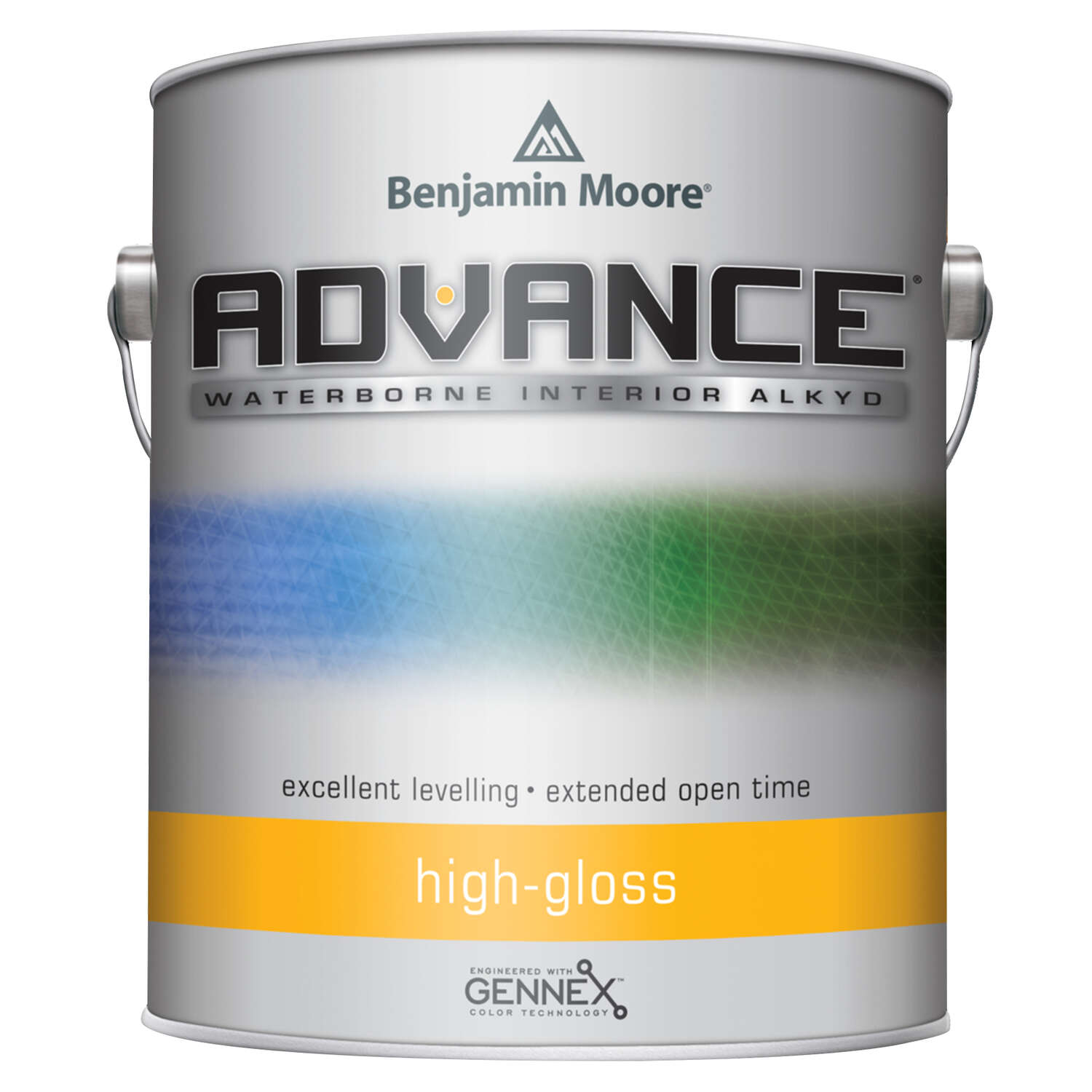 Benjamin Moore  Advance  High-Gloss  Base 2  Alkyd/Styrene Acrylate  Paint  Indoor/Outdoor  1 gal.