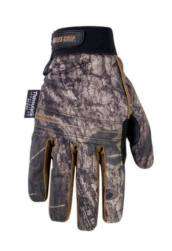 CLC  Unisex  Synthetic Leather  Winter  Work Gloves  Mossy Oak  L
