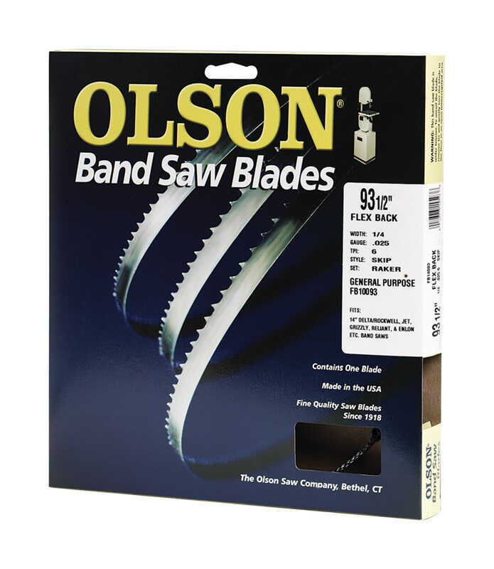 Olson  93.5 in. L x 0.2 in. W x 0.03 in. thick  Carbon Steel  Band Saw Blade  10 TPI Regular teeth 1