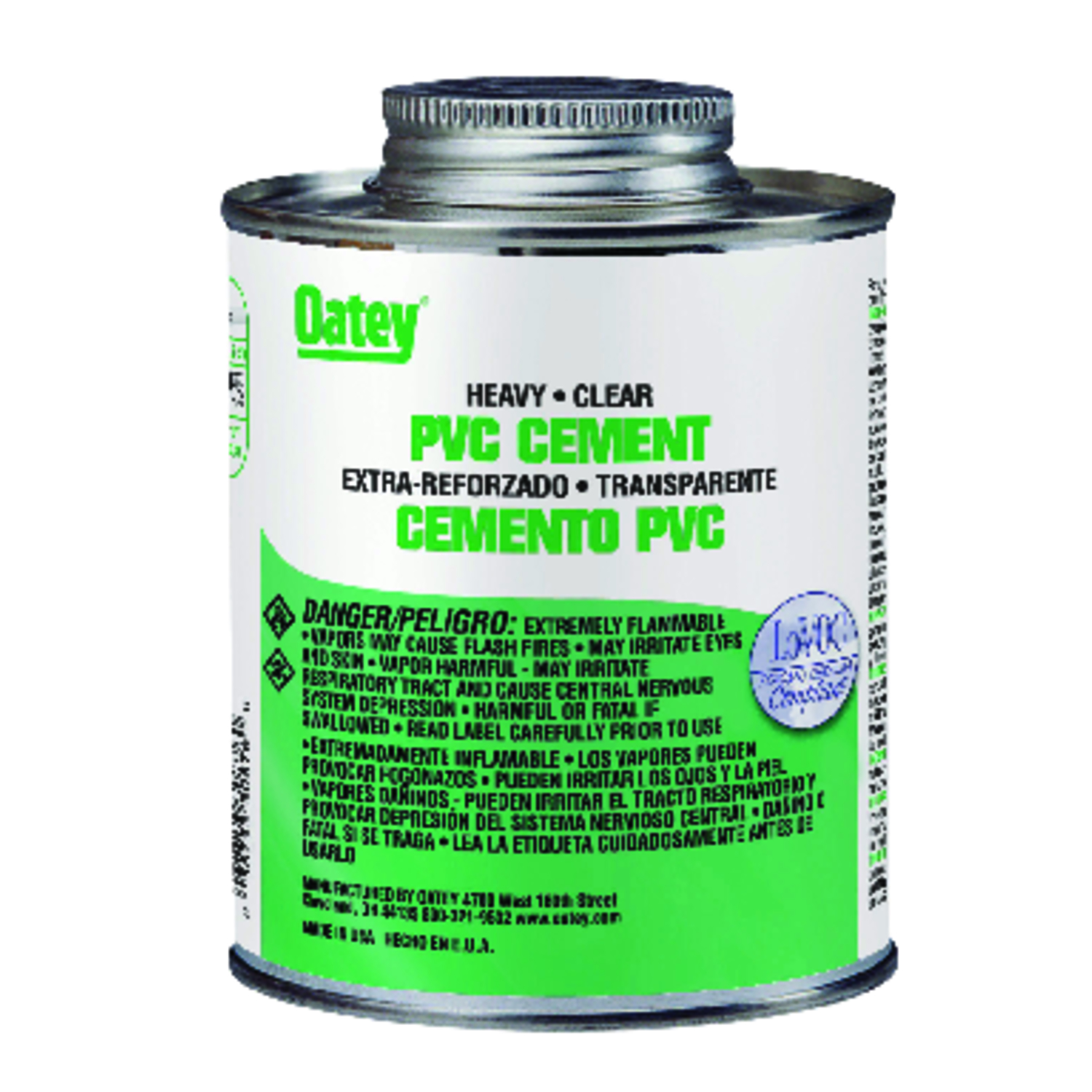 Oatey  Heavy Duty  Clear  Cement  16 oz. For PVC