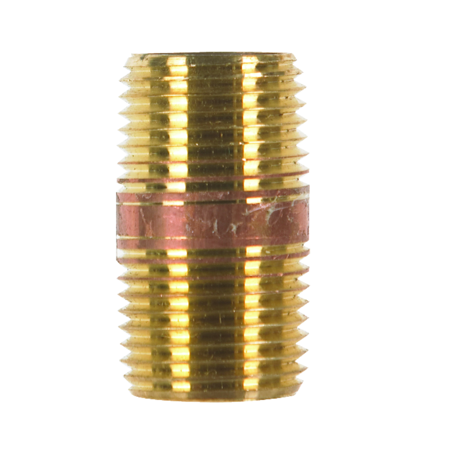 JMF  1/2  MPT To MPT To Nipple  1/2 in. Dia. Red Brass  Pipe Nipple