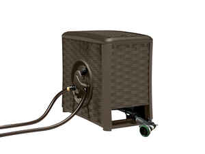 Suncast  Aquawinder  125 ft. Water Powered Automatic Winding  Brown  Hose Reel