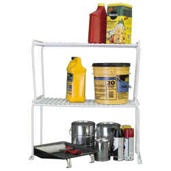 Grayline  15-1/2 in. H x 25-1/2 in. W x 12 in. L White  Stackable Shelf