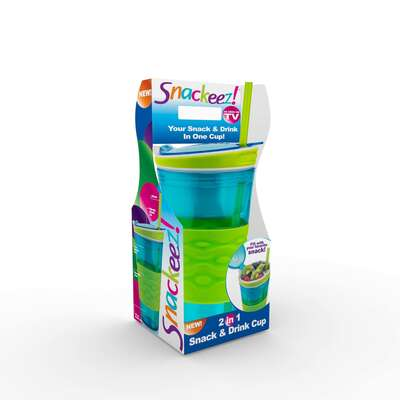 Snackeez  16 oz. Snack and Beverage Holder  Blue