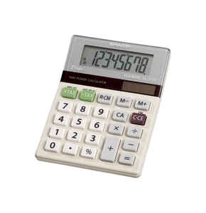 Sharp  8 digit Calculator  White