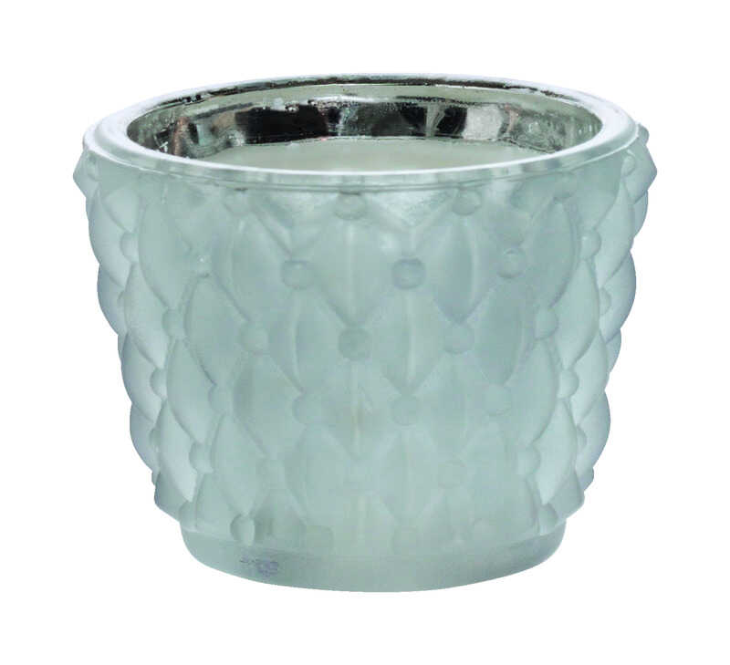 Inglow  Gray  Jar  Candle  2.5 in. H x 3 in. Dia.