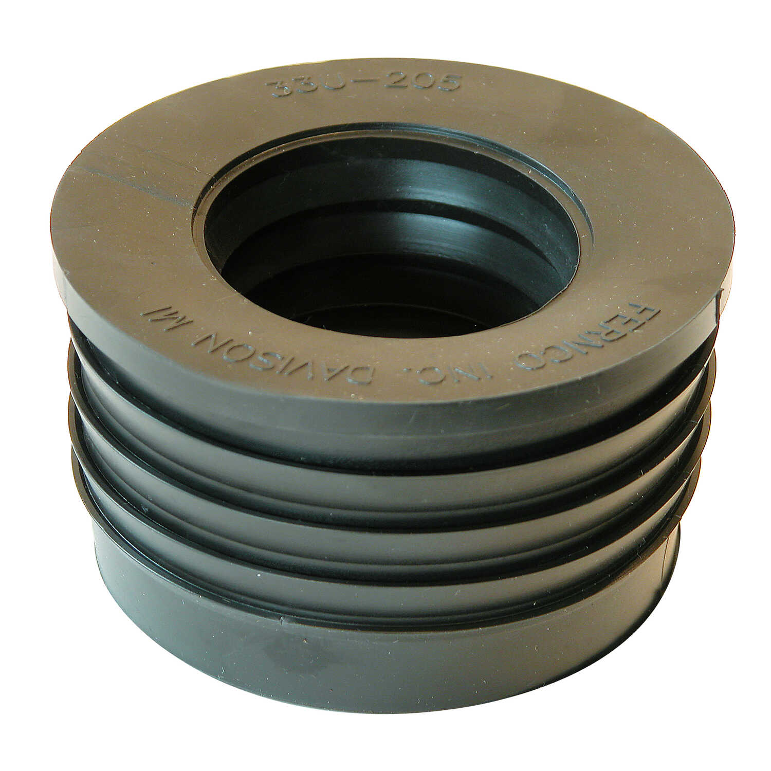 Fernco  Schedule 40  3 in. Hub   x 2 in. Dia. Hub  PVC  Donut Fitting