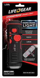 Life Gear  30 lumens Red  LED  Crank Radio/Flashlight
