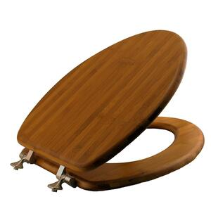 Mayfair  Elongated  Dark Bamboo  Bamboo  Toilet Seat