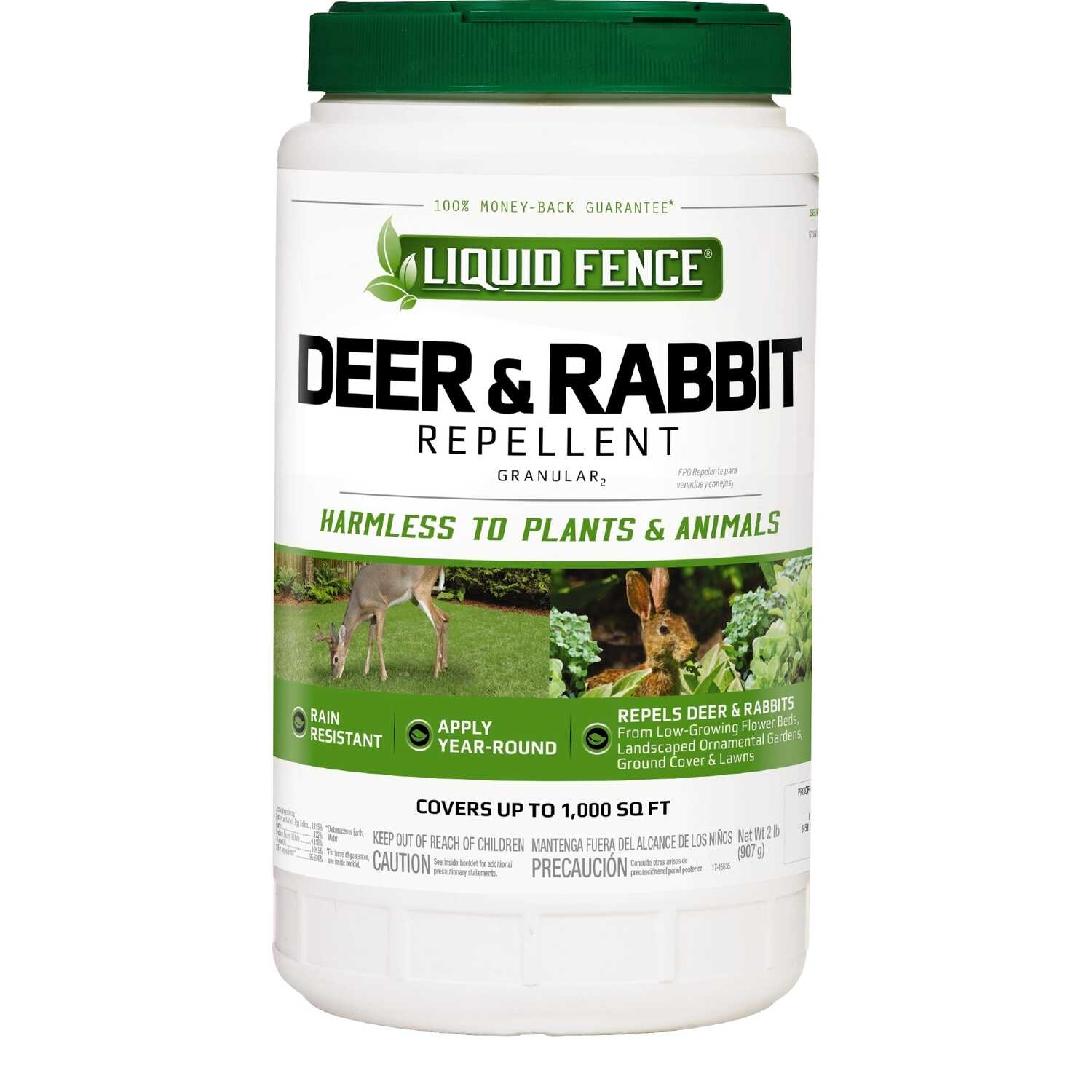 Liquid Fence  Animal Repellent  Granules  For Deer and Rabbits 32 oz.