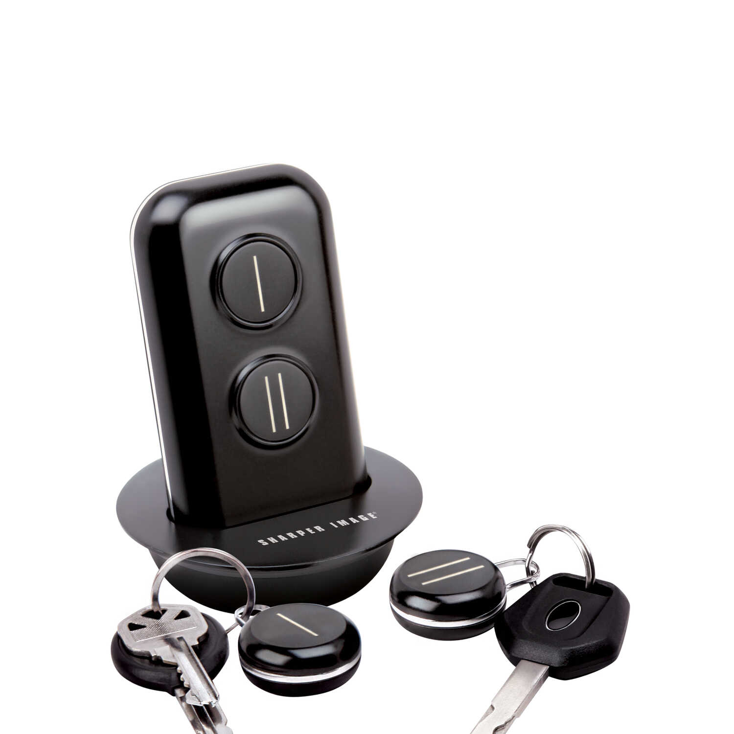 Sharper Image  Metal/Plastic  Black/Silver  Key Finder