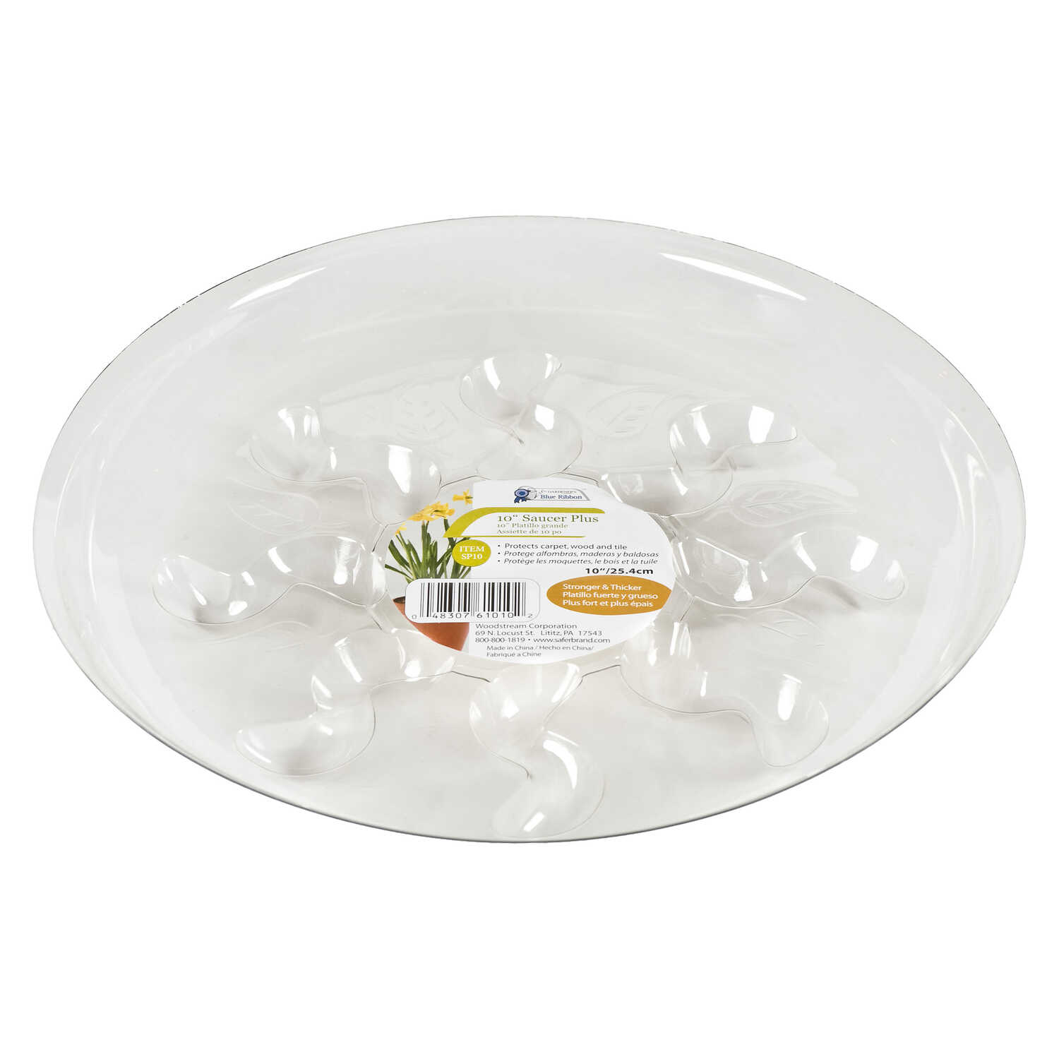 Gardeners Blue Ribbon  10 in. W Plastic  Clear  Plant Saucer