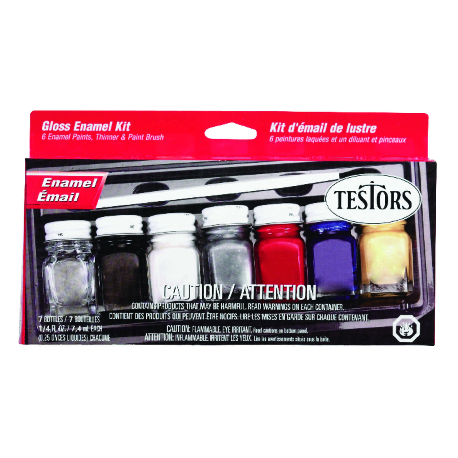 Testors  Assorted  Hobby Paint  7 pc.