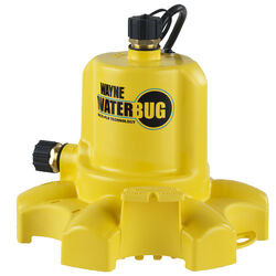 Wayne WaterBug 1/6 hp 1350 gph Thermoplastic Switchless AC Utility Pump