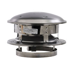 Selkirk  6 in. Dia. Stainless Steel  Round Top Dome