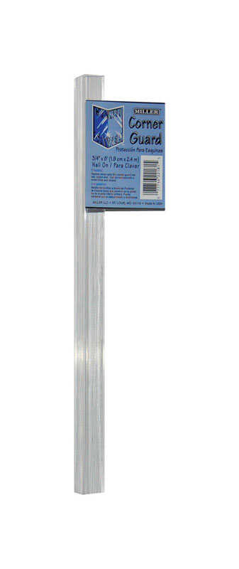 Miller  3/4 in. W x 96 in. L PVC  90 Degree  Corner Savers