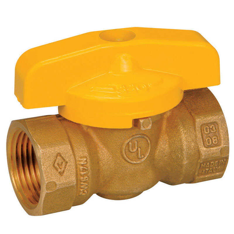 Mueller  Gas Ball Valve  3/4 in. FPT   x 3/4 in. Dia. FPT  Brass  Ball