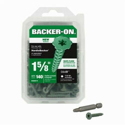 Backer-On  No. 9   x 1-5/8 in. L Star  Round Head Cement Board Screws  140 pk